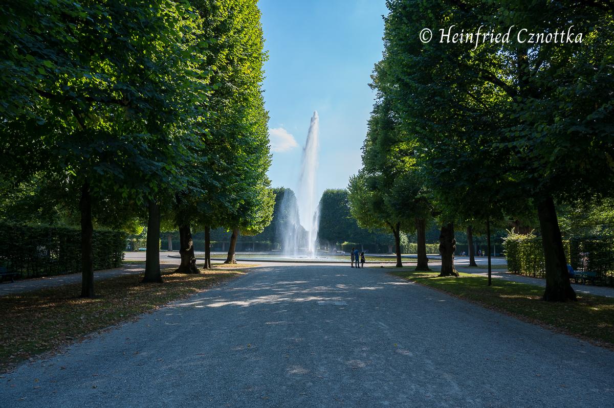 Blick auf die große Fontäne (Herrenhäuser Gärten, Hannover)