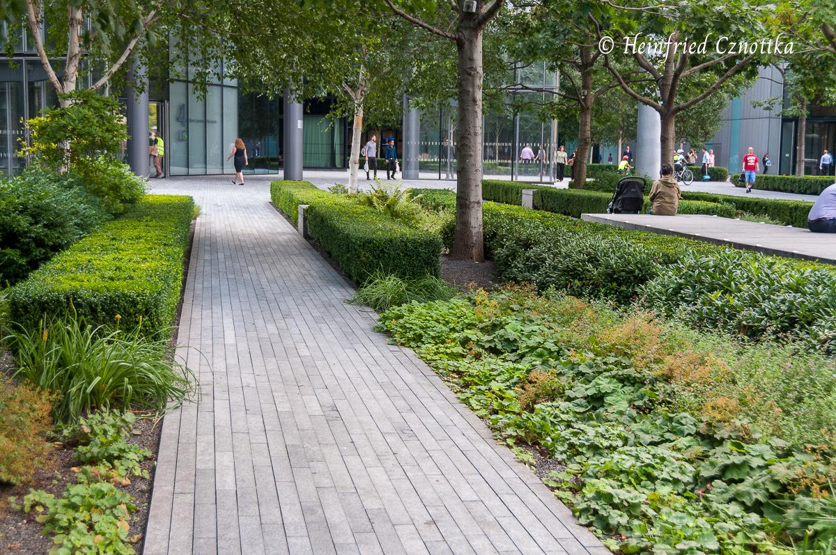 Kleine Grünanlage in London