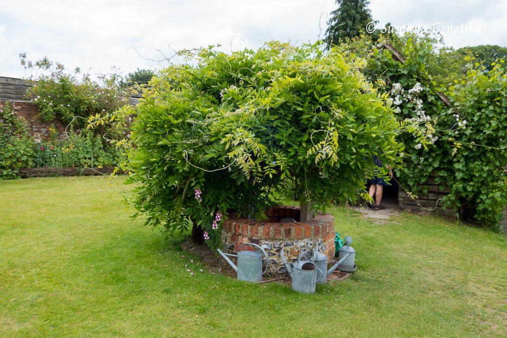 Malerischer Brunnen in einem Garten