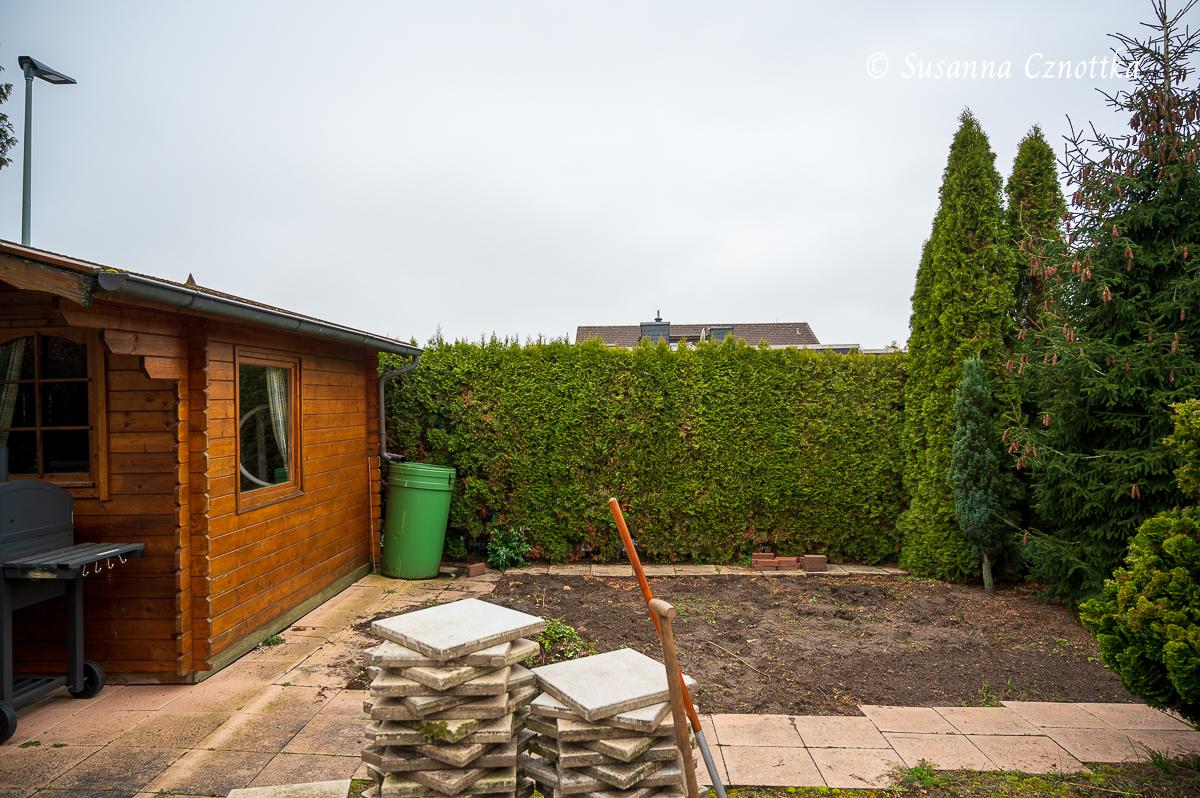 Baustelle im Garten