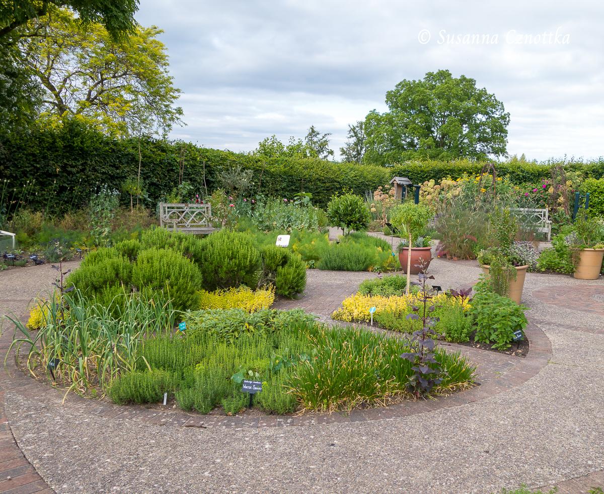 Runder Kräutergarten in RHS Wisley Garden